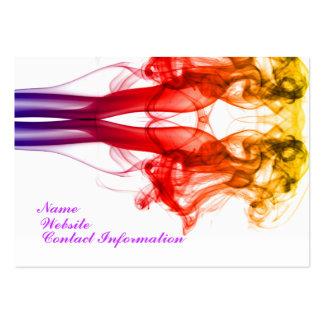 Danza del color - tarjeta de visita del humo