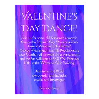 ¡Danza del el día de San Valentín! Azul, rosado, y Folleto 21,6 X 28 Cm