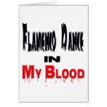 Danza del flamenco en mi sangre felicitacion
