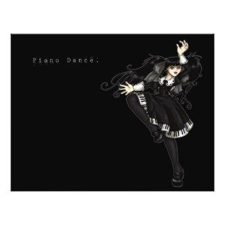 Danza del piano folleto 21,6 x 28 cm