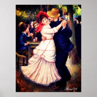 Danza en Bougival 1882, impresión de la