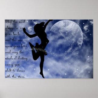 Danza entre el poster de las estrellas póster