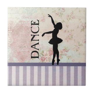Danza - fondo del vintage de la silueta de la azulejo cuadrado pequeño