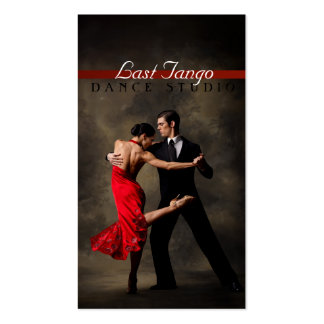 Danza, instructor, tarjeta de visita de las