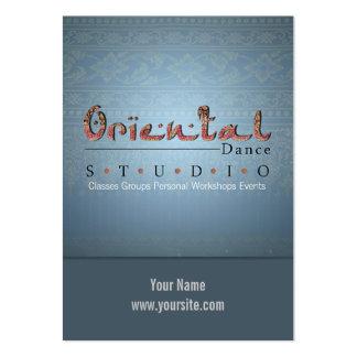 Danza oriental - negocio, tarjeta del horario tarjeta de visita