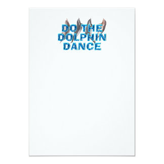 Danza SUPERIOR del delfín Invitación 12,7 X 17,8 Cm