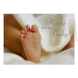 Dar la bienvenida a la nueva tarjeta del bebé