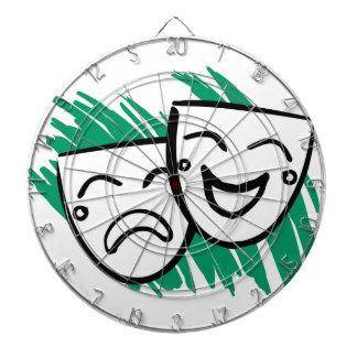 Dartboard del drama tabla dardos