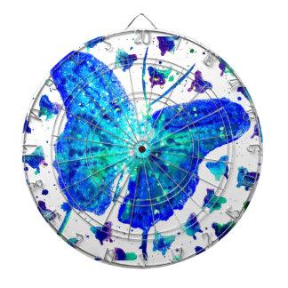 Dartboard pintado a mano de la mariposa tablero dardos