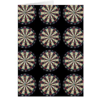 Dartboards_On_Black, _Birthday_Greeting_Card. Tarjeta De Felicitación