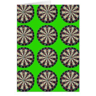 Dartboards_On_Lime, _Birthday_Greeting_Card. Tarjeta De Felicitación