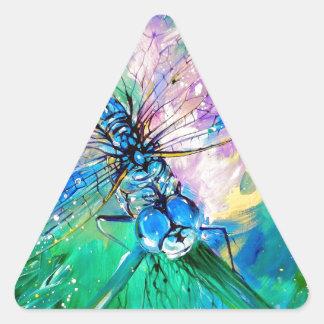Darter Azul-Con alas Pegatina Triangular