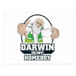 Darwin es mi Homeboy (a todo color) Postal