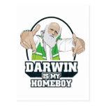 Darwin es mi Homeboy (a todo color) Postales