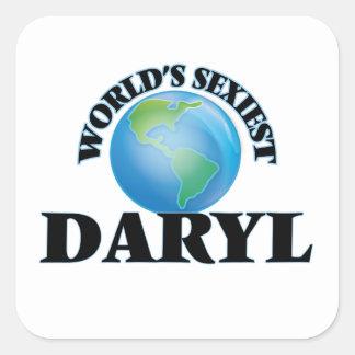 Daryl más atractivo del mundo calcomanía cuadradas personalizadas