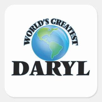 Daryl más grande del mundo calcomania cuadrada personalizada