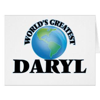 Daryl más grande del mundo tarjeta