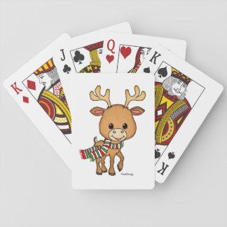Dasher los ciervos ama navidad baraja de cartas