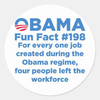 Datos divertidos de Obama Pegatina Redonda