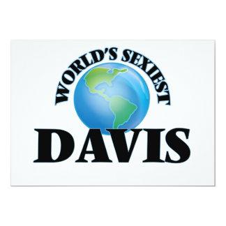 Davis más atractivo del mundo invitación 12,7 x 17,8 cm