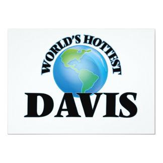 Davis más caliente del mundo invitación 12,7 x 17,8 cm