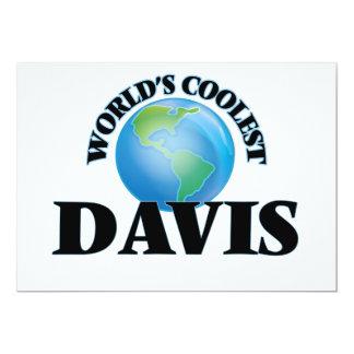 Davis más fresco del mundo invitación 12,7 x 17,8 cm