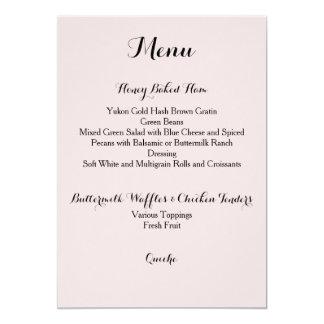 Davis + Tarjeta del menú de Harper
