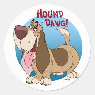 dawg del perro pegatina redonda