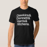 Dawkins y Dennett y Harris y Hitchens. Camiseta