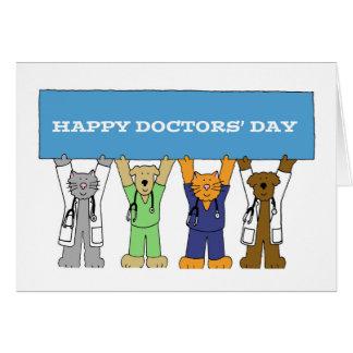 Day del doctor feliz tarjeta de felicitación