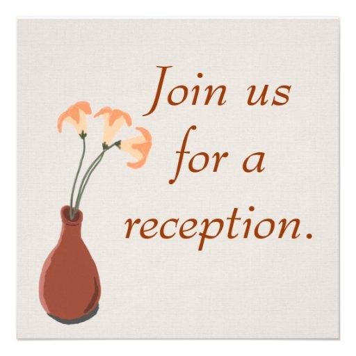 Daylilies en invitaciones del rojo de un personali anuncios