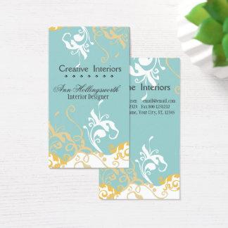 Daylily azul en colores pastel floral artístico tarjeta de visita