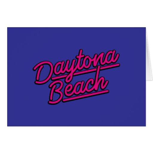 Daytona Beach en magenta Tarjeta