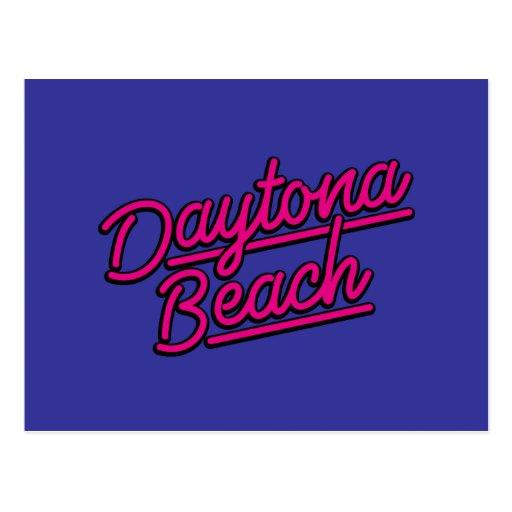 Daytona Beach en magenta Postales