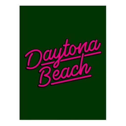 Daytona Beach en magenta Tarjeta Postal