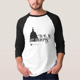 DC es camisa del béisbol de mis hombres del campus