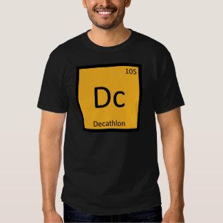DC - símbolo de la química del atletismo del Camiseta