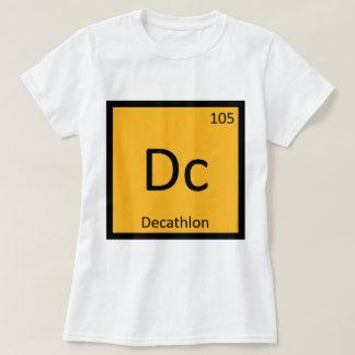 DC - símbolo de la química del atletismo del Camisetas