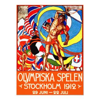 ~ de 1912 Juegos Olímpicos de Verano (el vintage Invitación 16,5 X 22,2 Cm