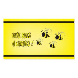 Dé a abejas una oportunidad tarjetas de visita