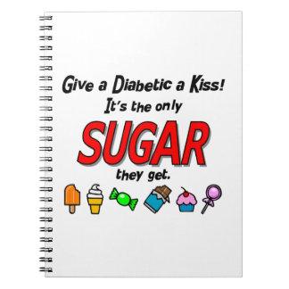 Dé a diabético un beso libros de apuntes