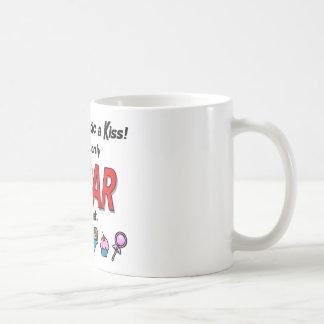 Dé a diabético un beso taza de café