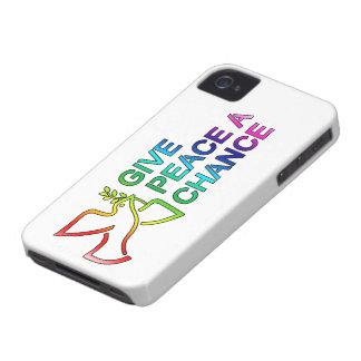 Dé a paz una oportunidad Blackberry los casos iPhone 4 Cárcasas