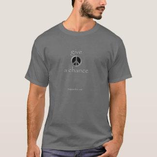 dé a paz una oportunidad camiseta