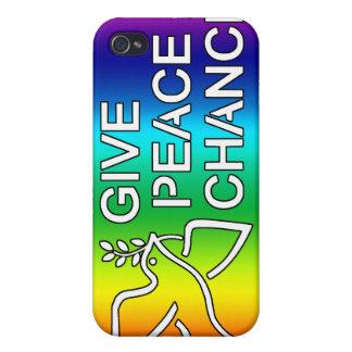 Dé a paz una oportunidad (el arco iris) iPhone 4 cárcasas