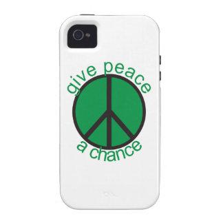 Dé a paz una oportunidad iPhone 4 funda