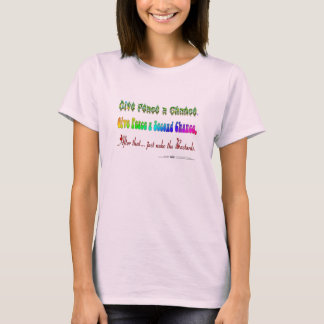 Dé a paz una segunda oportunidad camiseta