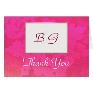 De agradecimiento color de rosa del BODA de la Tarjeta De Felicitación