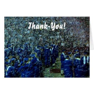 De agradecimiento de la graduación tarjeta