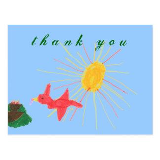 De agradecimiento de la jerarquía del pájaro de lo tarjeta postal